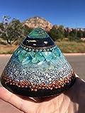 Triple Orgone Anti Stress Generator Dome with Green Calcite