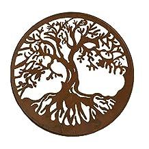 Round Iron Tree of Life Design Wall Plaque