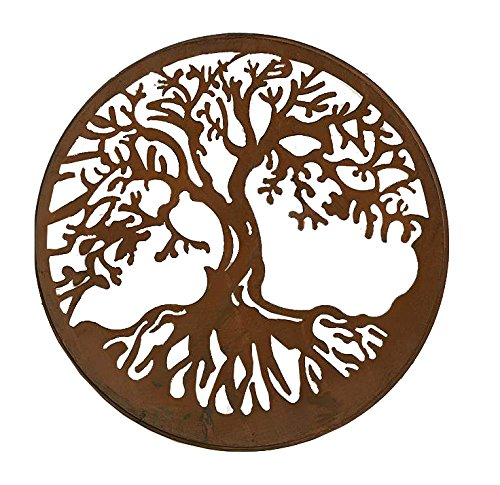 Gift Craft Iron Round Wall Plaque