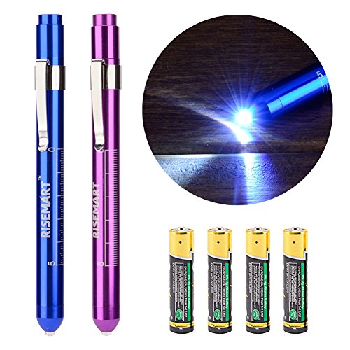 RISEMART Medical Penlight Students Batteries