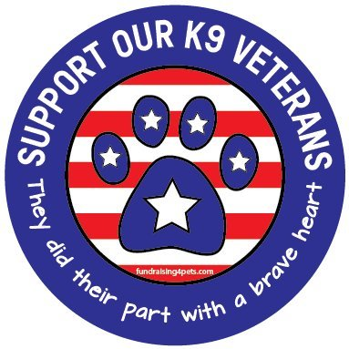 Support Our Veterans circle magnet
