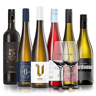 GEILE WEINE Weinpaket EINSTEIGERSET (6 x 0,75) Probierpaket mit Weißwein, Rotwein und Rosé von Winzern aus Deutschland…