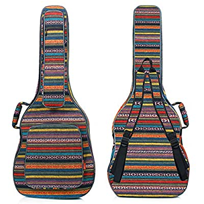CAHAYA Guitar Bag Guitar Case 0.65in Thick Sponge Padded Guitar Case for 40 41 42 Inches Acoustic Classical Guitar