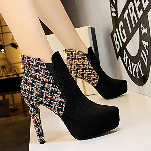 Stivali Col Zhznvx Per Scarpe In Tacco Acqua Moda Alto Videoclip Neri Sexy Notte Alla Con alti Raso Ultra Da Scarponcini q8rqwz6