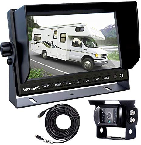 Backup Camera for Trucks, Two Installation Methods, No Interference, No Delay, 7 Wide Screen and Night Vision IP68 Waterproof Backup Camera for Box Truck, Bus, Caravan, Camper Van, Boat, Yacht