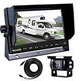 Backup Camera for Trucks, Two Installation Methods, No Interference, No Delay, 7″ Wide Screen and Night Vision IP68 Waterproof Backup Camera for Box Truck, Bus, Caravan, Camper Van, Boat, Yacht Review