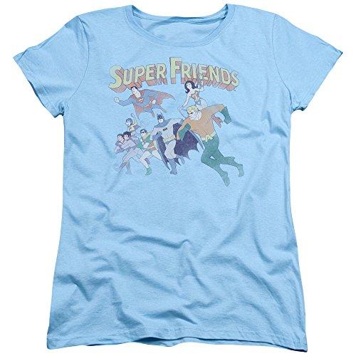 DC Comics Super Friends Batman Superman Robin Wonder Twins Women's T-Shirt