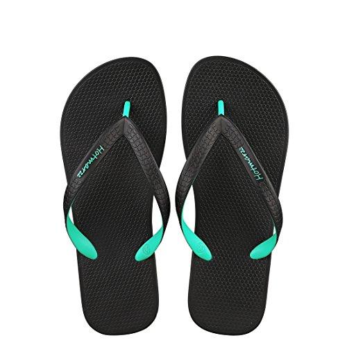 Hotmarzz Hommes Tongs Pantoufles Sandales De Plage Piscine Glissades De Douche Vert