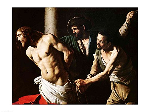 The Flagellation of Christ, c.1605-7 by Michelangelo Caravaggio Art Print, 24 x 18 inches