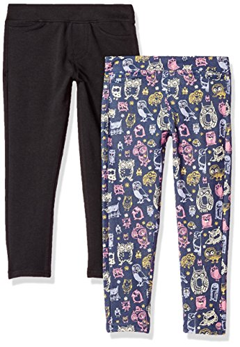 VIGOSS Girls' Little 2 Pack Leggings, AM Yellow, 5