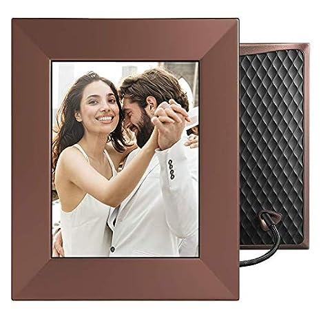 NIXPLAY Iris Marco Digital WiFi Fotos 8 Pulgadas W08E Bronce. USA la Aplicación para Enviar