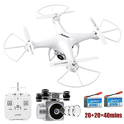 JJRC H68 RC Drone 20mins Long Flght Time Quacopter with Removable 720P Camera FPV Wifi Helicopter with 2 Batteries Long Flying Time Altitude Hold, Headless Mode, Remote Control Drone from JJRC