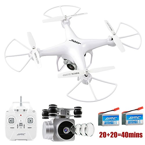 JJRC H68 RC Drone 20mins Long Flght Time Quacopter with Removable 720P  Camera FPV Wifi Helicopter with 2 Batteries Long Flying Time Altitude Hold,