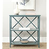 Safavieh American Homes Collection Liam Slate Teal 2-Tier Open Bookcase
