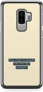 Samsung Galaxy S9 Plus Transparent Edge Phone Case Sunlight Phone Case Stay Close Phone Case Friends Samsung S9 Plus Cover with see through edges