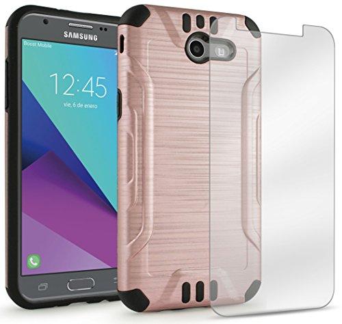 Shockproof Hybrid Case for Samsung Galaxy J5 (Black/Rose Gold) - 8