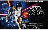 Star Wars Classic Prepasted Chair Rail Wall Mural