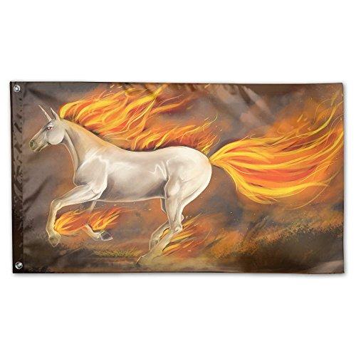 Garden Flag Yard Sweet Home Decoration 3x5 Feet Fire Horse U