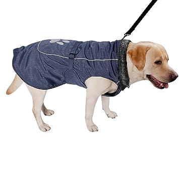 Bwiv Chaqueta Impermeable Abrigo Perros Grandes Ropa Mascotas Cachorros Chupasquero para Perro Resistente al Agua Gruesa