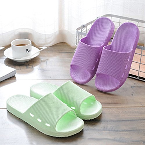 Slide Shower a Men Soft Couple Sandals Womens Bath amp;KATE Slip Anti WILLIAM Light House Slipper Green Casual Flat 84OPq