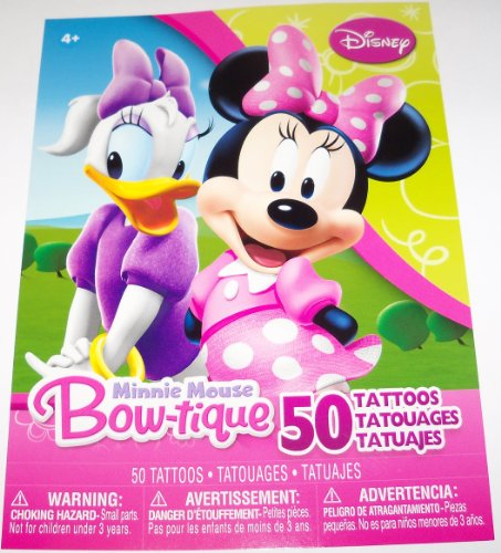 Disney Minnie Mouse Bow-tique Set of 50 Tattoos ~ Minnie and Daisy -
