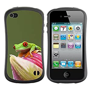 Suave TPU GEL Carcasa Funda Silicona Blando Estuche Caso de protección (para) Apple Iphone 4 / 4S / CECELL Phone case / / Flower Green Pastel Animal Rainforest /