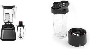 Blendtec Designer 725 Blender - WildSide+ Jar (90 oz) and Twister Jar (37 oz) BUNDLE - 6 Pre-Programmed Cycles - 100-Speeds - Gunmetal/Black & GO Cup (34 oz)
