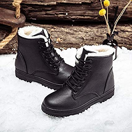 b6dca2e4a84 Image Unavailable. Image not available for. Color  Best Quality Hah Plus  Size Women Casual Platform Fuax Fur Ankle Boots Winter Female ...