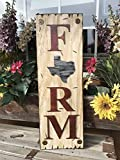TEXAS State SIGN Vertical *FARM, HOME, LAKE, or WELCOME *Rustic Distressed Wood *Antique Red White or River Rock Blue Gray *LARGE XL *Inside *Outside *Exterior *Entryway, Porch, By Front Door TX