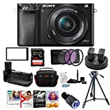 Sony Alpha a6000 24.3 MP Mirrorless ILC with 16-50mm Lens Ultimate Camera Bundle