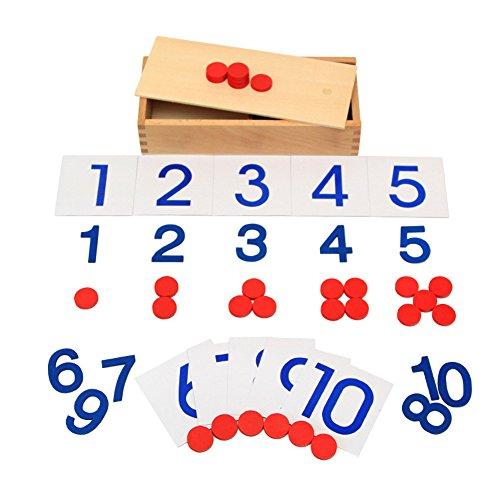 GreenSun TM Wooden Montessori Toy Math Card Wooden Education Toy Children
