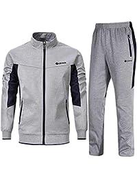 77025857fd63 Men s Tracksuit Set 2 Piece Athletic Sports Casual Full Zip Active wear  Sweatsuit