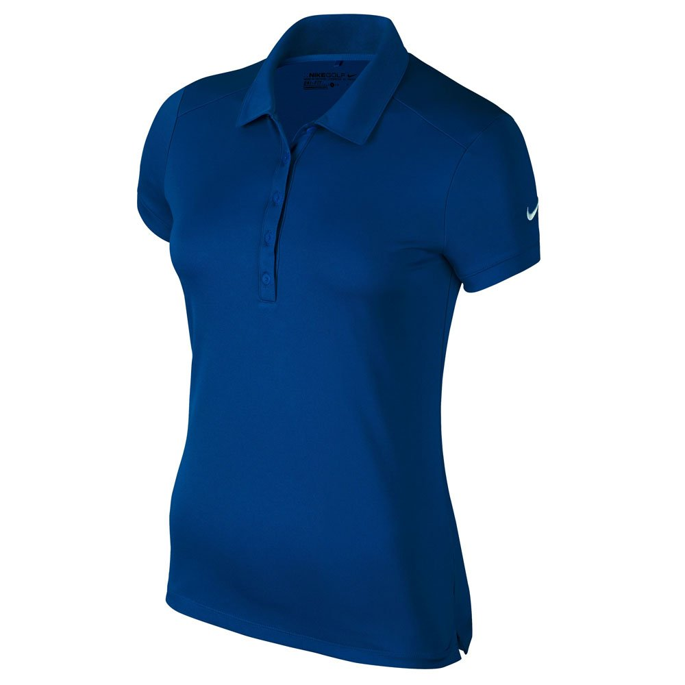 NIKE Victory Solid Golf Polo 2017 Women Blue Jay/White X-Small