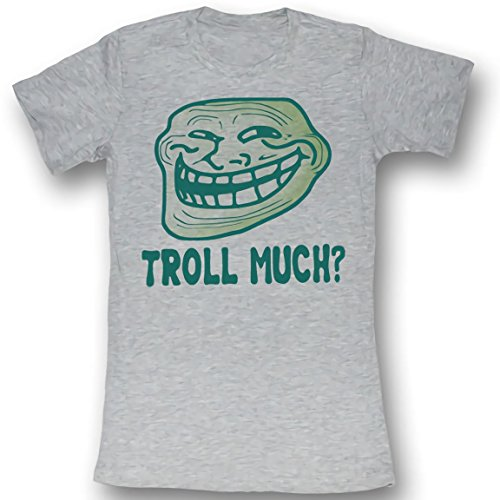 Gris Bruyère Xl Juniors T Much shirt American Face Classics Troll You Mad 80Fpwq