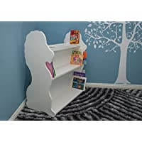 Ace Baby Furniture Lion Mobile Double-Sided Bookcase, White