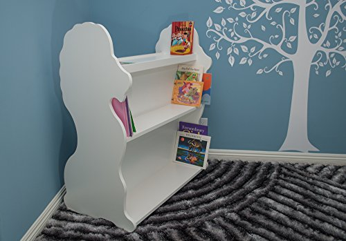 Image of Ace Baby Furniture Lion Mobile Double-Sided Bookcase, White
