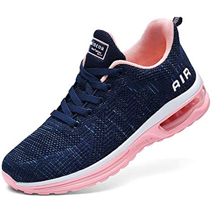 Lamincoa Women's Air Running Shoes Athletic Fashion Lightweight Sneakers for Walking Tennis Sports Gym Jogging