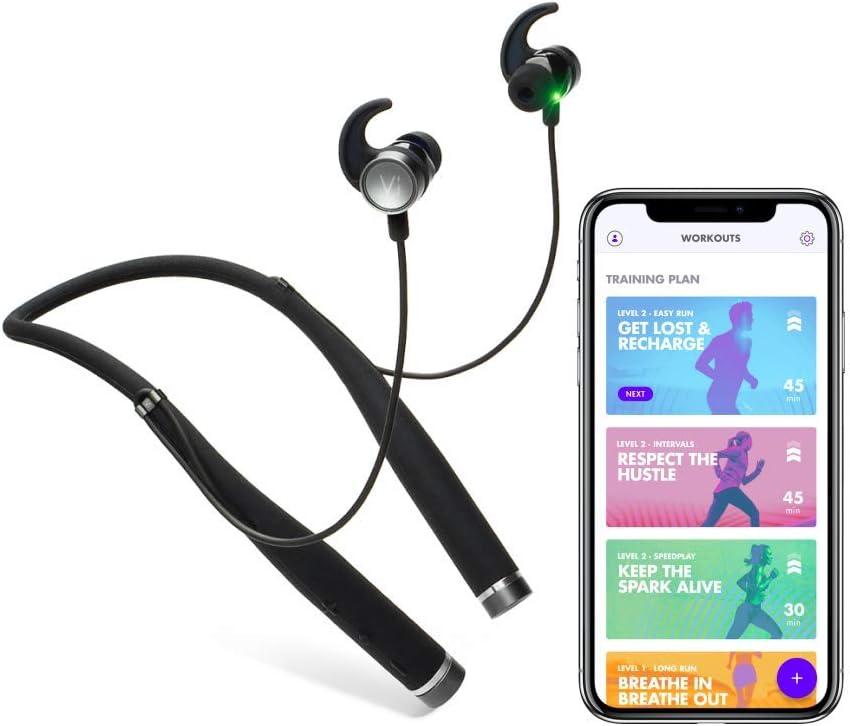 Auriculares Bluetooth Harman Kardon con Inteligencia Artificial Vi, Entrenador Personal y Monitor de Fitness, medición de Ritmo cardíaco, Sonido prémium, para Carrera, Marcha y Ciclismo