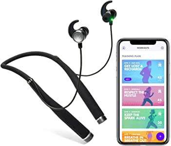 LifeBEAM Vi Sense Wireless Headphones with on-Demand AI Personal Trainer. Vi's Human-Sounding Voice Coaches You in Realtime Using a Built-in Fitness Tracker and Heart Rate Monitor
