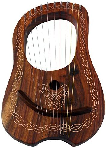 Lyre Harp 10 Strings with Tunning Key Free Soft Carrying Case //Lyra harp