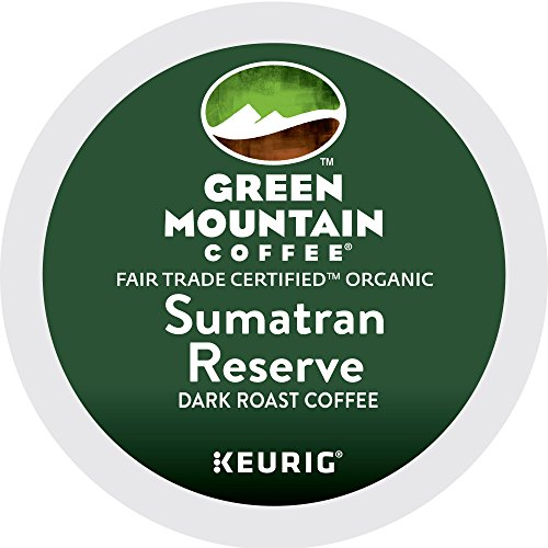Green Mountain Coffee All right Trade Organic Sumatran Reserve, K-Cup Portion Pack for Keurig Brewers 24-Count
