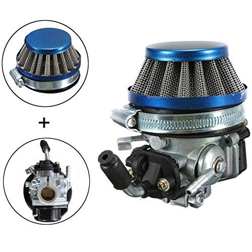 Yosa Blue Carburetor Fit 49cc 60cc 66cc 80cc 2 Stroke Engine Motorized Bicycle Racing (49cc Racing Carburetor compare prices)