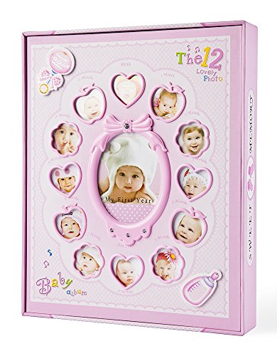 FaCraft Baby Photo Album,For Girls Holds 240 4x6 Photos