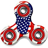 Exgreem NEW 2017 DIRT RESISTANT EDC Tri-Spinner Fidget Toy Smooth Surface Finish Ultra Durable 2-3 Min Spins Non-3D printed