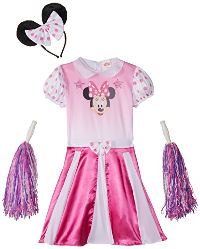 [Disguise Disney Mickey Mouse Clubhouse Minnie Mouse Cheerleader Girls Costume, Medium/7-8] (Female Mickey Mouse Costumes)