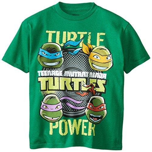 Teenage Mutant Ninja Turtles Big Boys' Short Sleeve T-Shirt Shirt, Kelly Green, Medium / (Big Turtle)