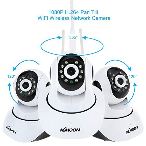 KKmoon 1080p Wi-Fi IP Security Surveillance System Camera H.264 2MP P2P Pan Tilt IR Cutfor Baby /Elder/ Pet/Nanny Monitor IP Webcam