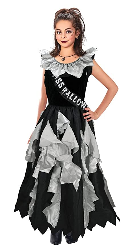 Bristol Novelty CC179 Zombie Prom Queen Costume, Grey, Medium, 122 - 134 cm