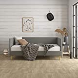 DHP Franklin Mid Century Daybed, Mid-Century Modern Design, Rich Grey Linen Upholstery, Twin