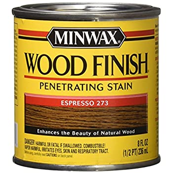 Minwax 227634444 Wood Finish Penetrating Interior Wood Stain, 1/2 pint, Espresso